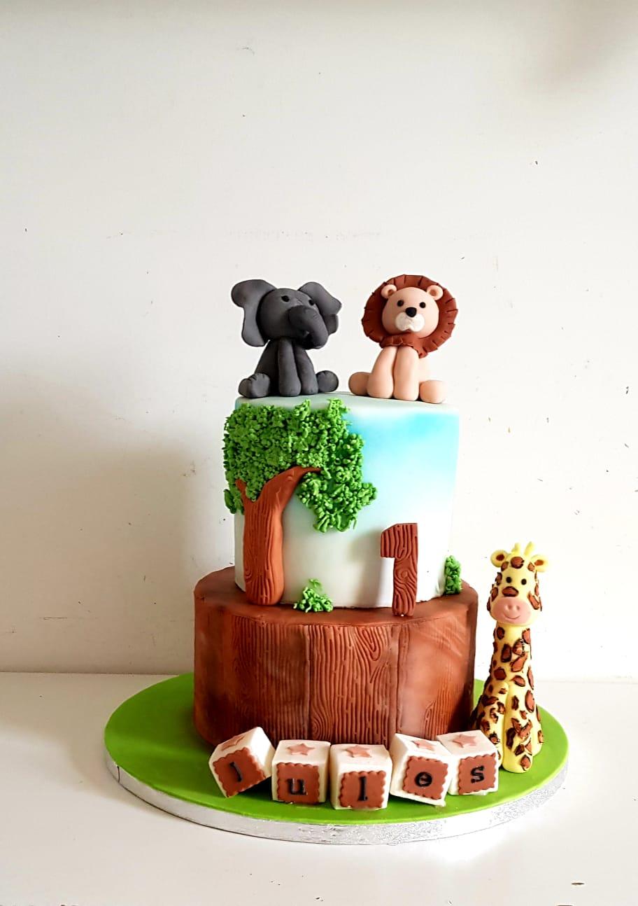 Gâteau personnalisé pour un anniversaire enfant jungle