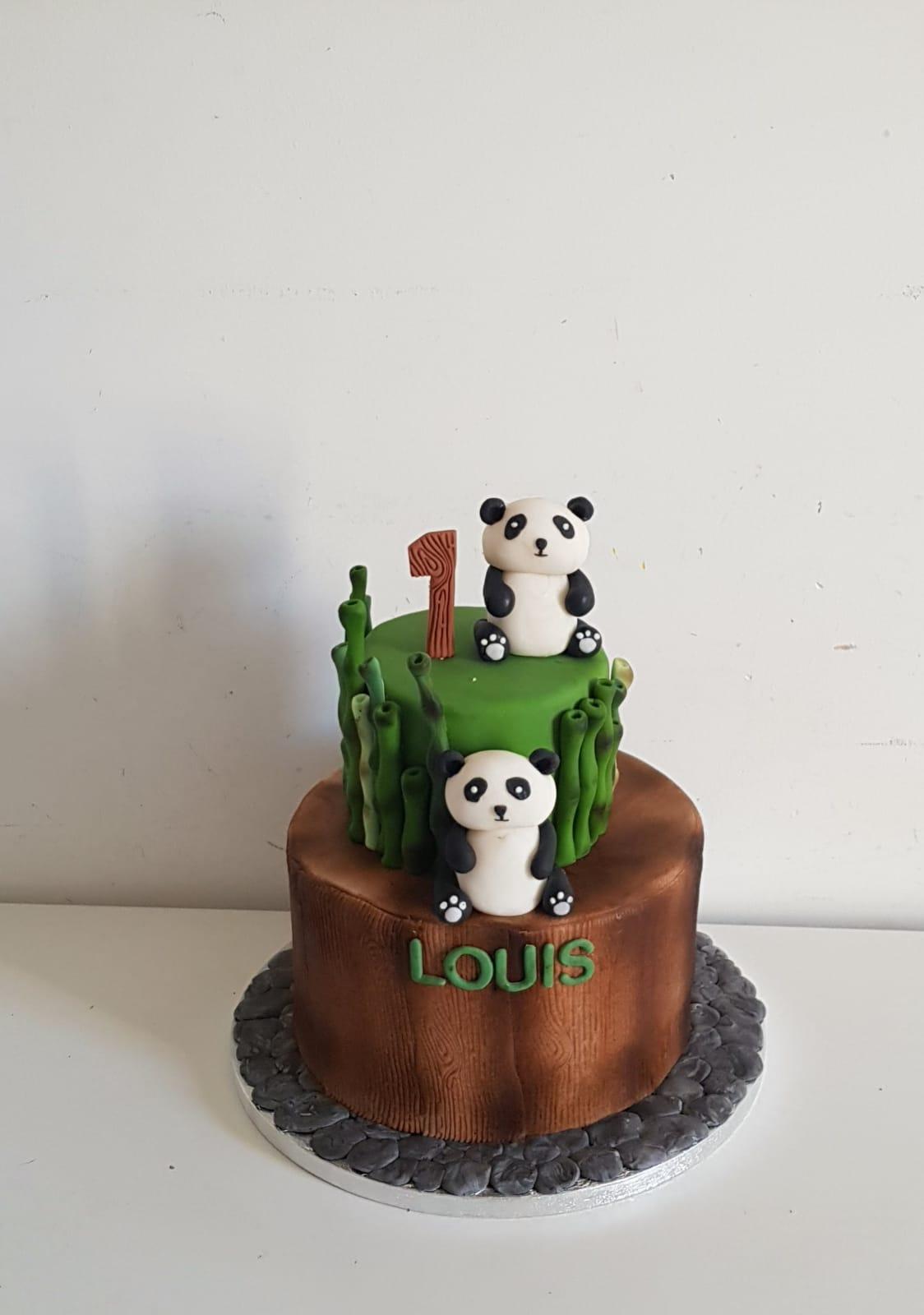 Cake design pour un anniversaire enfant panda