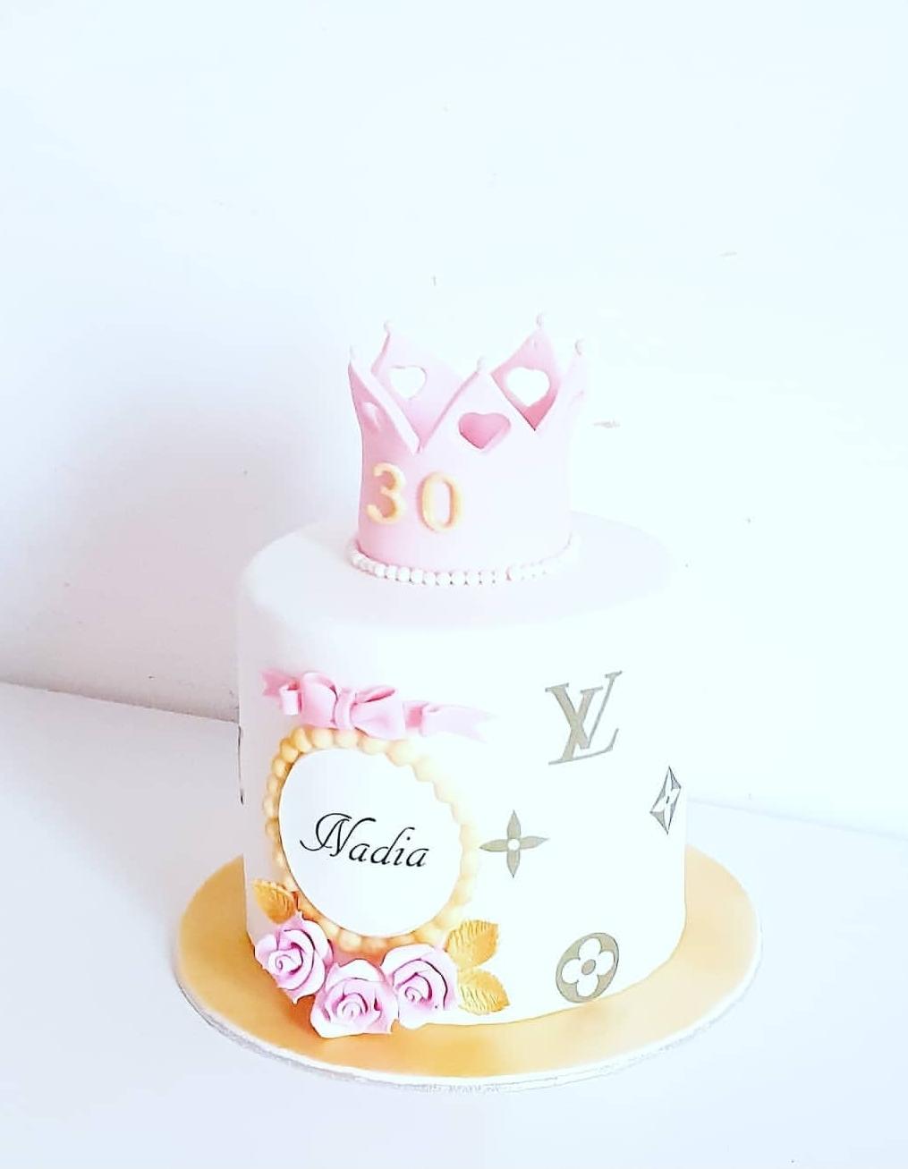 Gâteau anniversaire louis vuitton princesse