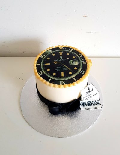 Gâteau d'anniversaire décoration montre rolex