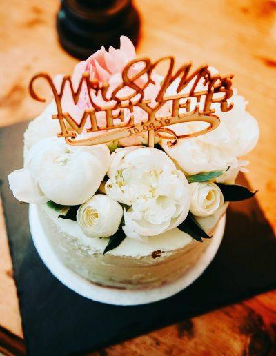 Gâteau de mariage décoration Mrs et Mm Meyer