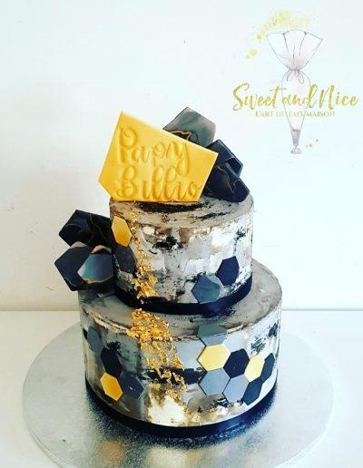 Gâteau d'anniversaire décoration papy billio