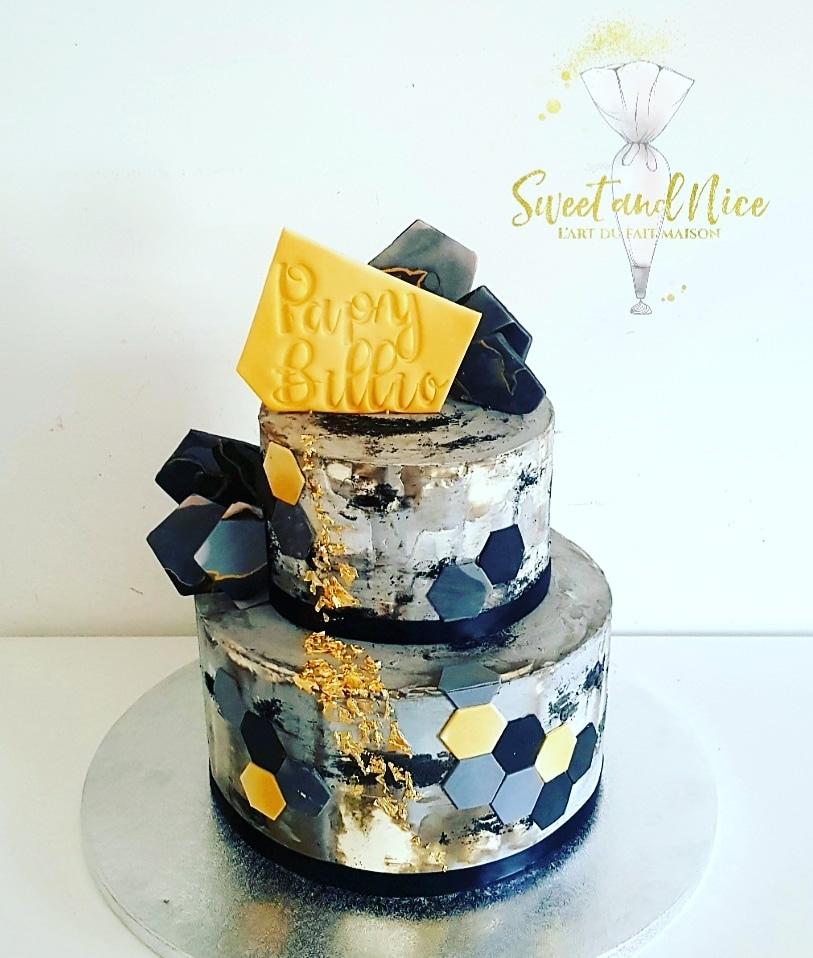Magnifique gâteau pour un anniversaire adulte Papy Billio2