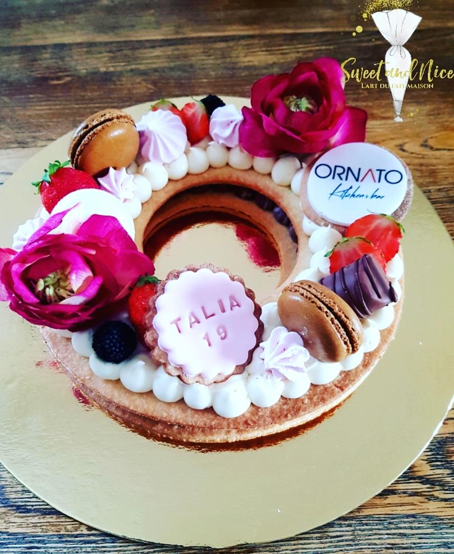 Gâteau évènement entreprise Ornato