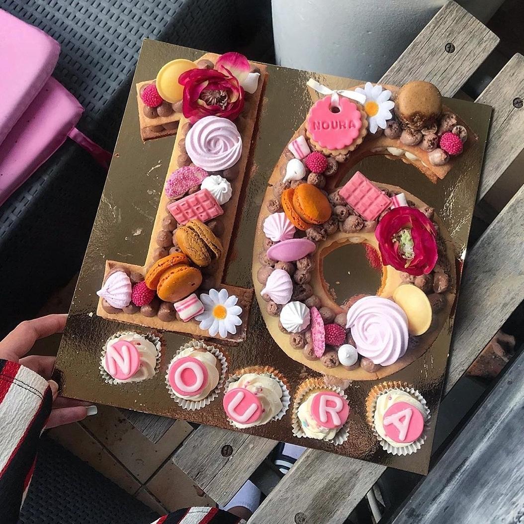 Number Cakes pour les 16 ans de Noura