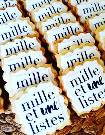 Sablés personnalisés pour un évènement d'entreprise Mille et une listes