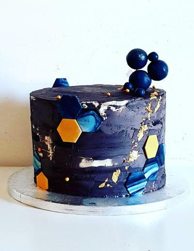 Gâteau anniversaire art planète