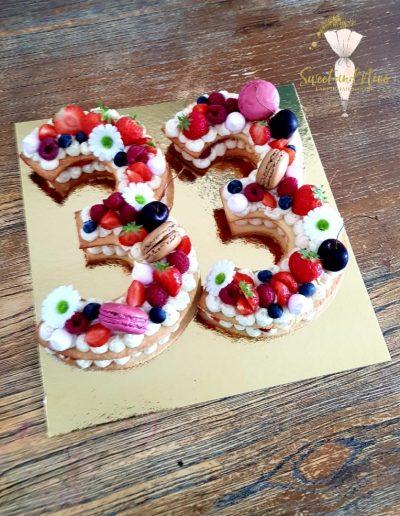Number cakes pour anniversaire 33 ans
