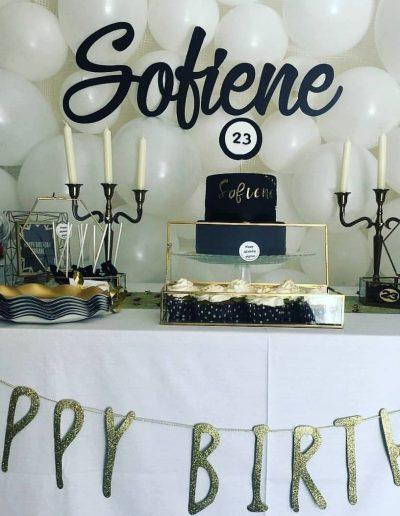 Joli buffet pour anniversaire de sofiene 23 ans